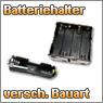 Batteriehalter für unterschiedliche Batterietypen