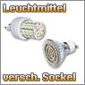 LED Leuchtmittel mit unterschiedlichem Sockel