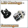 LED Montagefassungen, Montageschraube und Montagering
