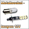 Kfz-Metallsockellampe 12V in verschiedenen Leuchtfarben