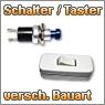 Schalter und Taster in verschiedenen Größen und Formen