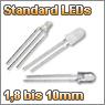 Standard LEDs diffus, wasserklar und mehrfarbig von 1,8mm bis 10mm