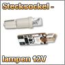 Kfz-Stecksockellampen 12 V in verschiedenen Leuchtfarben