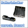 Batteriehalter f&uuml;r unterschiedliche Batterietypen