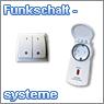 Funkschaltsysteme, Funkwandschalter und Funksteckdosen