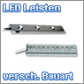 LED Leisten in verschiedenen Ausführungen