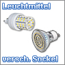 LED Leuchtmittel mit unterschiedlichem Sockel