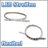 flexible LED strips in different colors