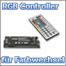 RGB Controller mit Fernbedienung f&uuml;r einen stimmungsvollen Farbwechsel