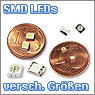 SMD LEDs verschiedener Gr&ouml;&szlig;en und Farben