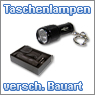 LED Taschenlampen in verschiedenen Gr&ouml;&szlig;en