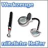 Nützliche Helfer, Dritte Hand, Lupenleuchte und Teleskop-Werkzeuge