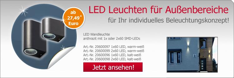 LED Wandleuchte mit 1x oder 2x60 SMD-LEDs