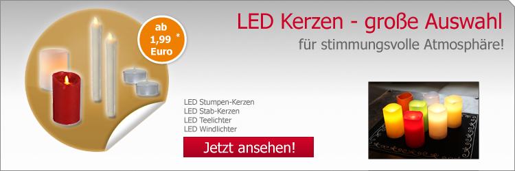 LED Kerzen - große Auswahl