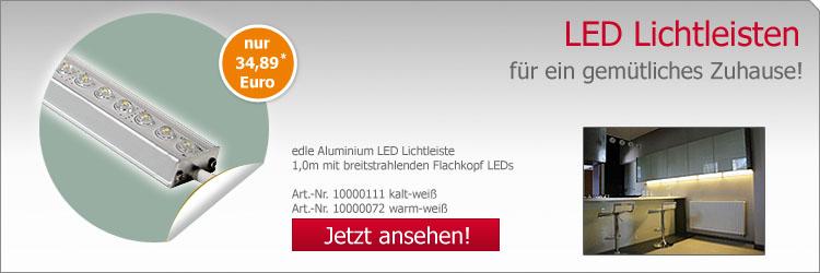 LED Lichtleisten Aluminium-Gehäuse IP65
