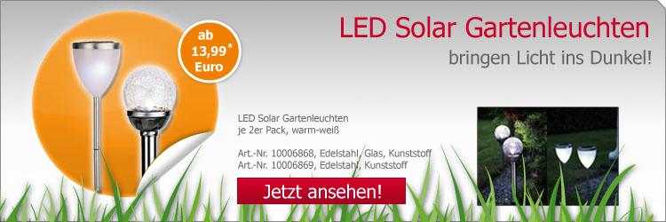 LED Solar Gartenleuchten
