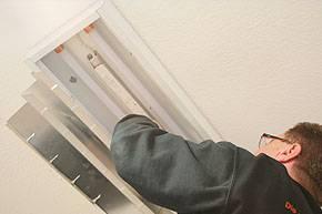 LED Röhren werden eingesetzt