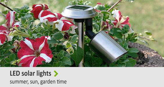 LED solar lights - Summer, sun, garden time